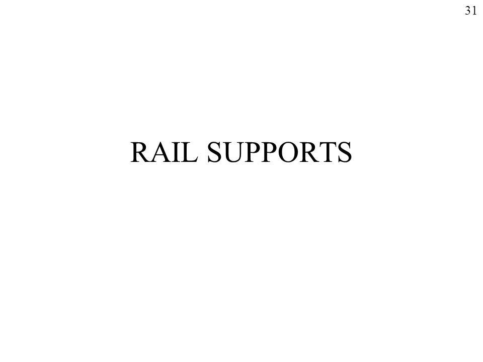 31 RAIL SUPPORTS