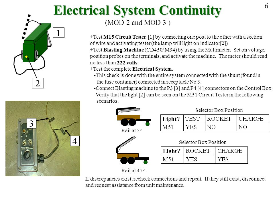 Electrical System Continuity