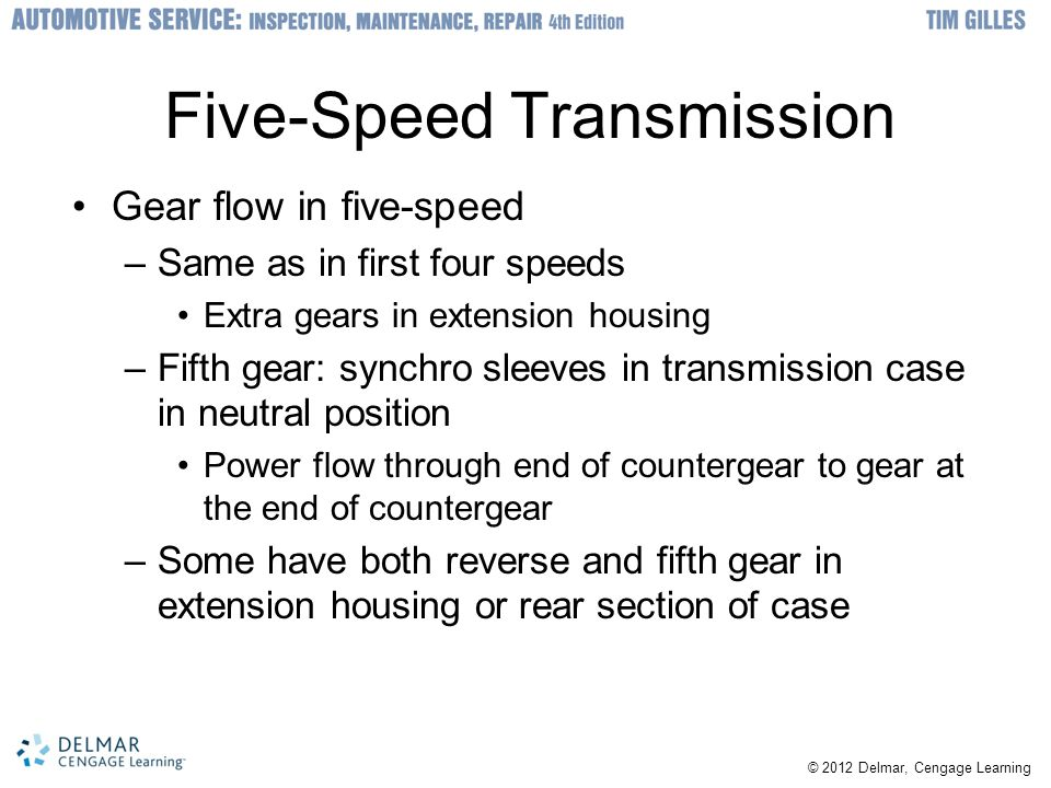 Five-Speed Transmission