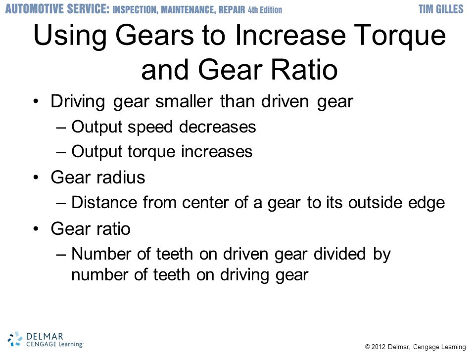 Using Gears to Increase Torque and Gear Ratio