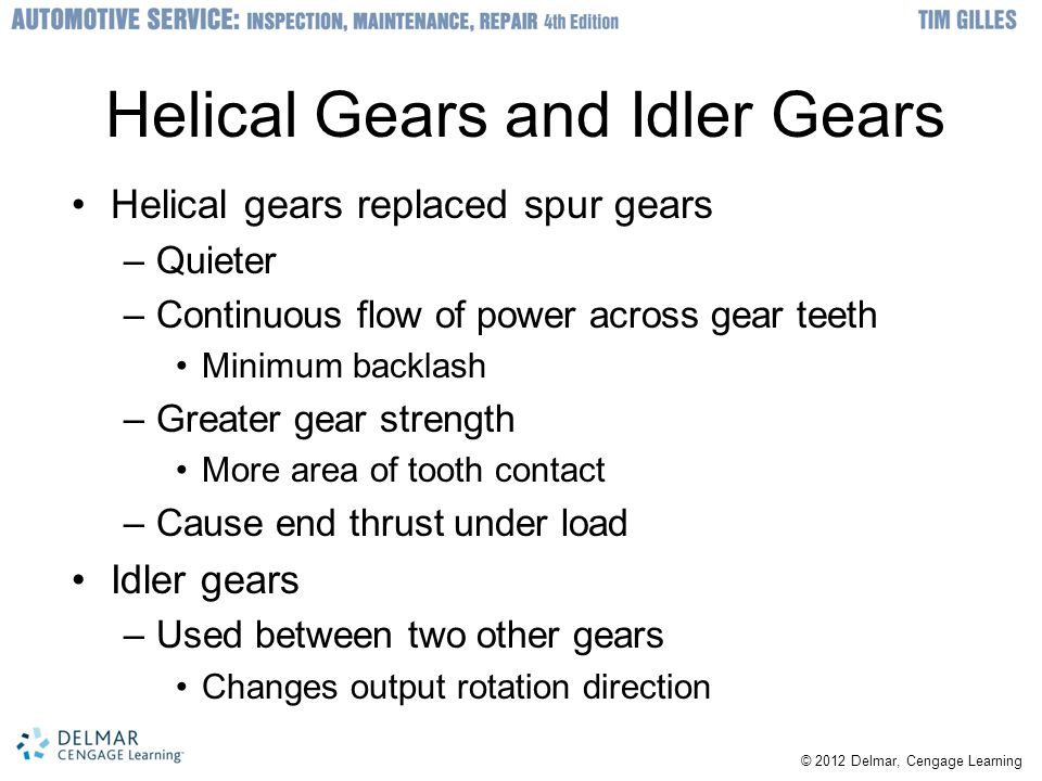 Helical Gears and Idler Gears