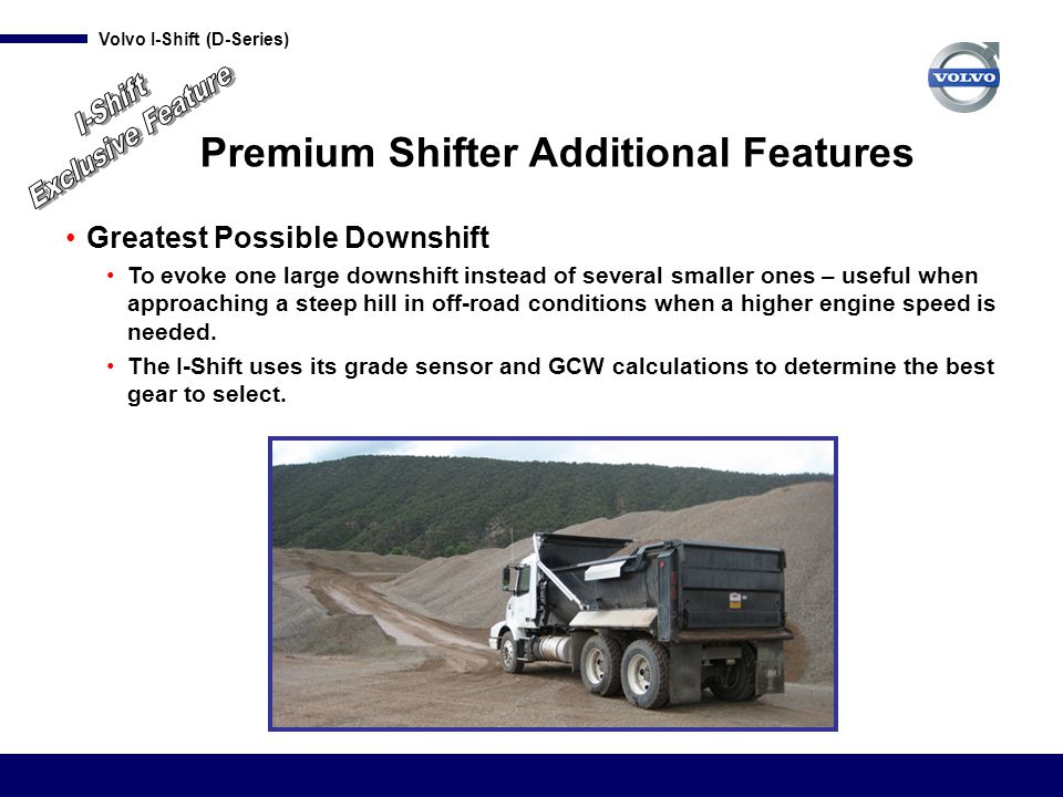 Premium Shifter Additional Features