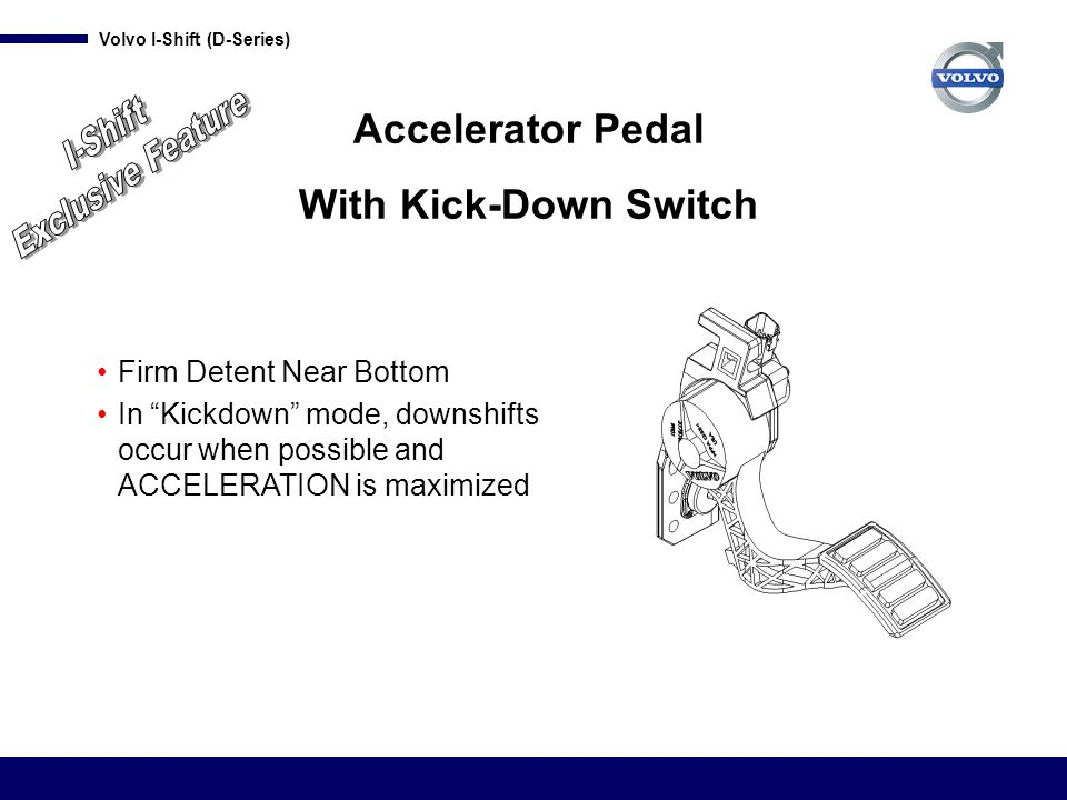 Exclusive Feature I-Shift Accelerator Pedal With Kick-Down Switch