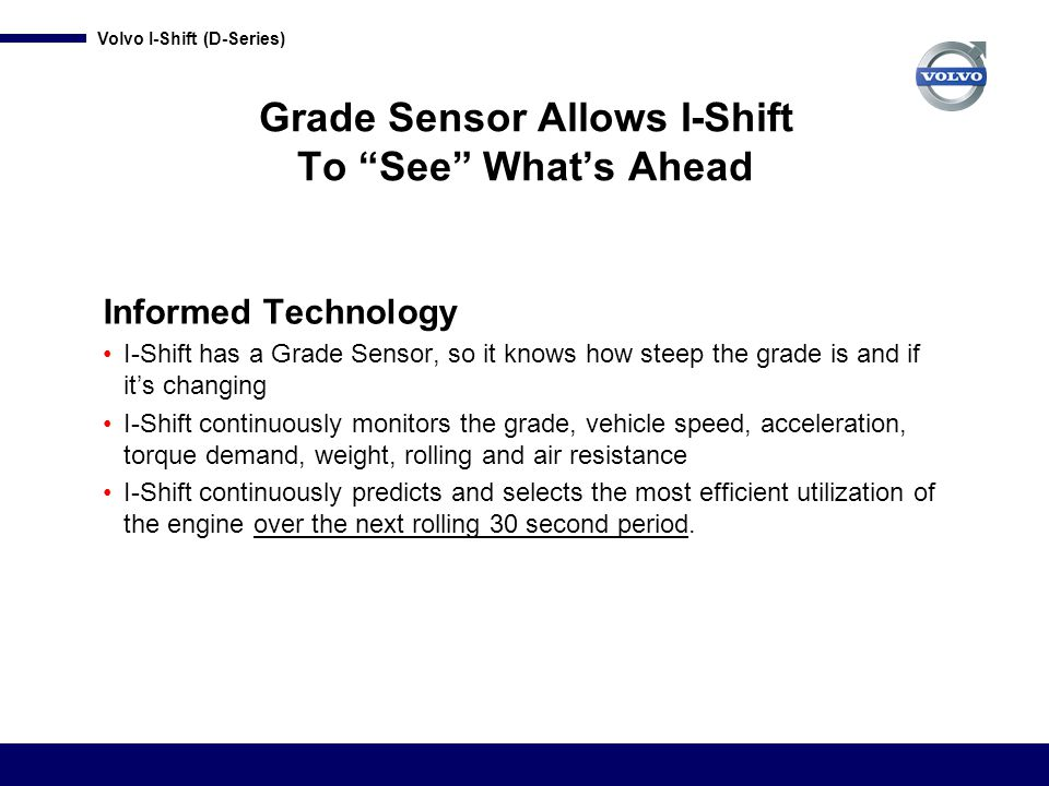 Grade Sensor Allows I-Shift To See What's Ahead