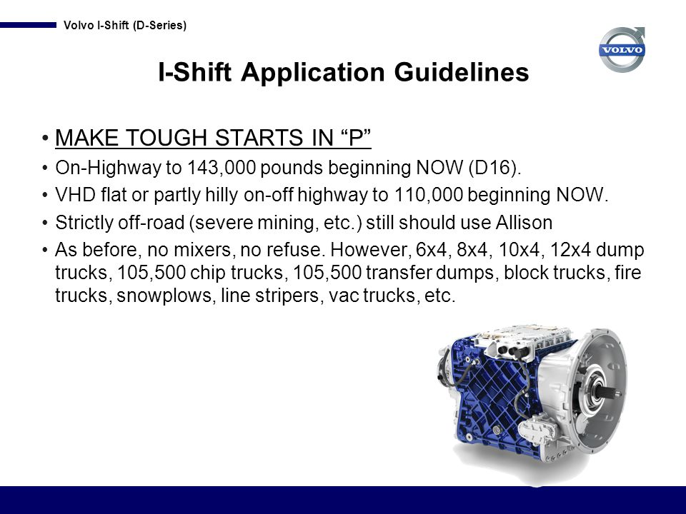 I-Shift Application Guidelines