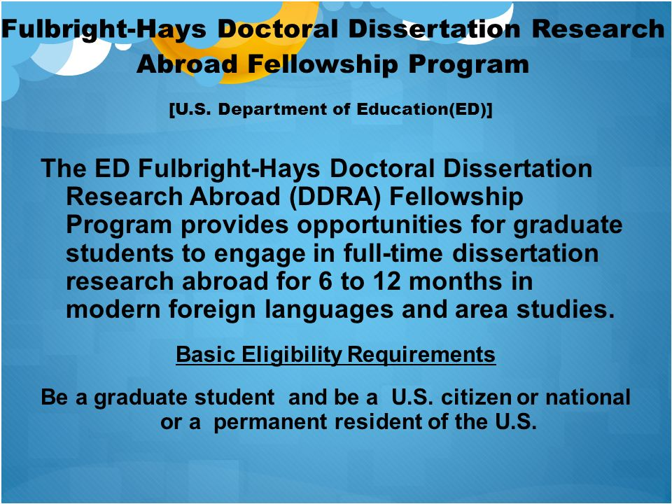 Fulbright-Hays Doctoral Dissertation Research
