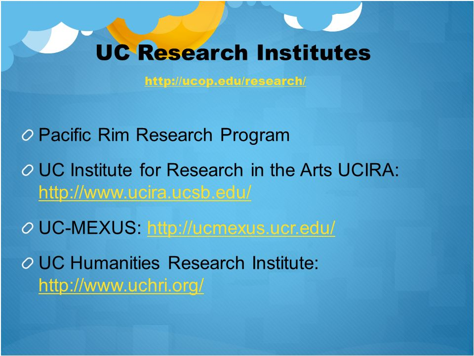 UC Research Institutes