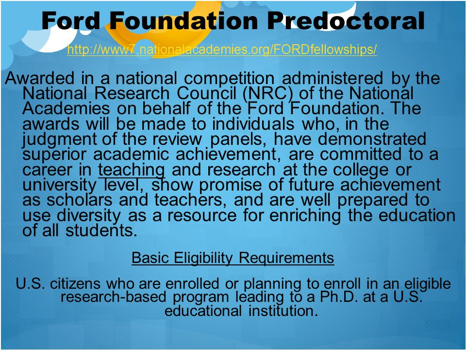 Ford Foundation Predoctoral