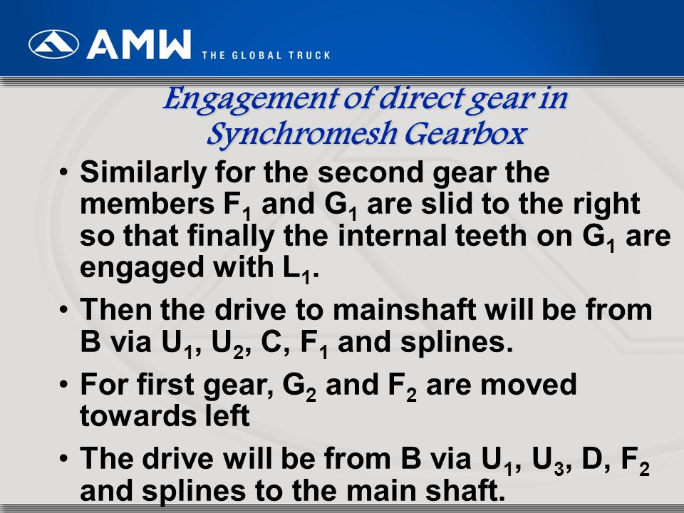 Engagement of direct gear in Synchromesh Gearbox