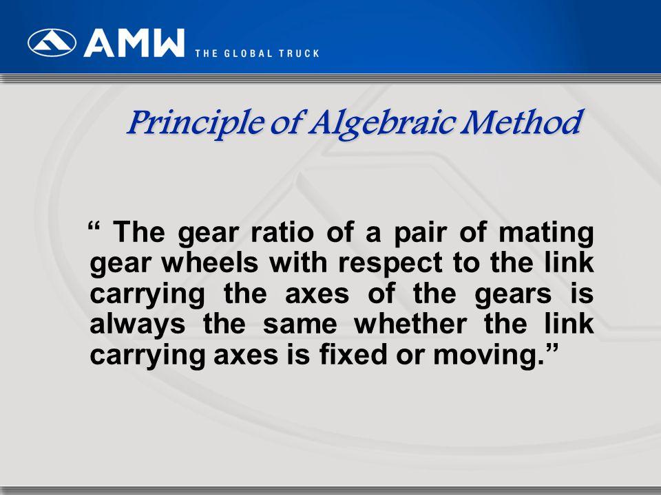 Principle of Algebraic Method