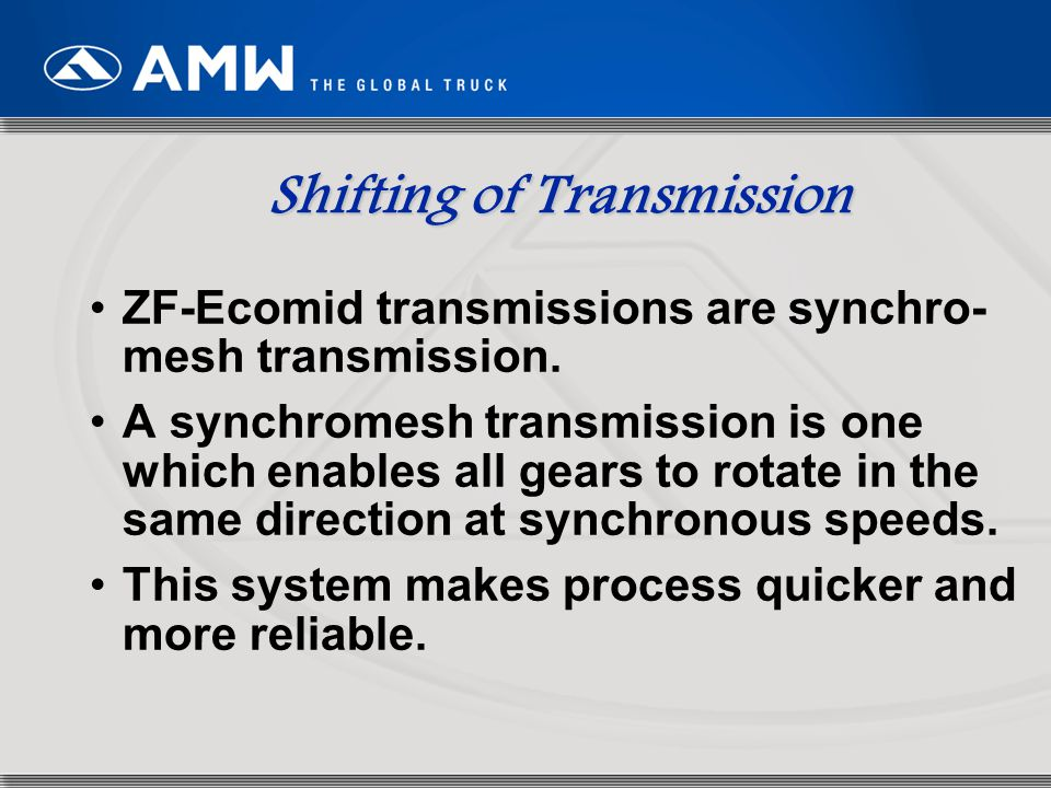 Shifting of Transmission