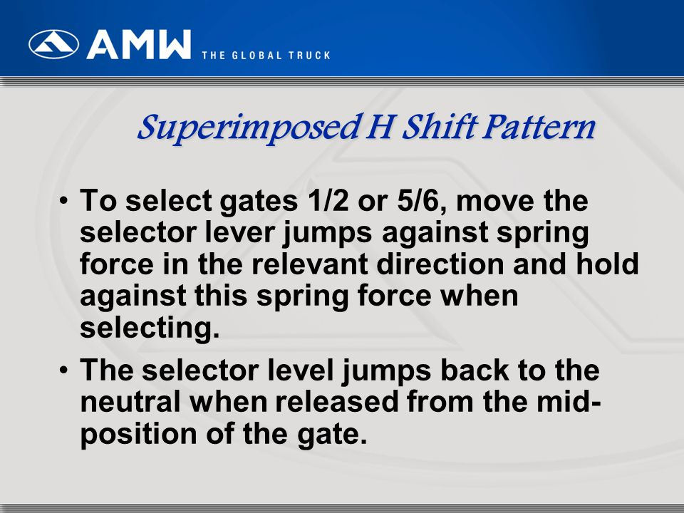Superimposed H Shift Pattern