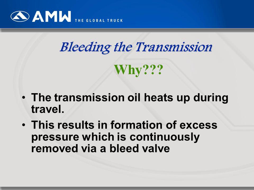 Bleeding the Transmission