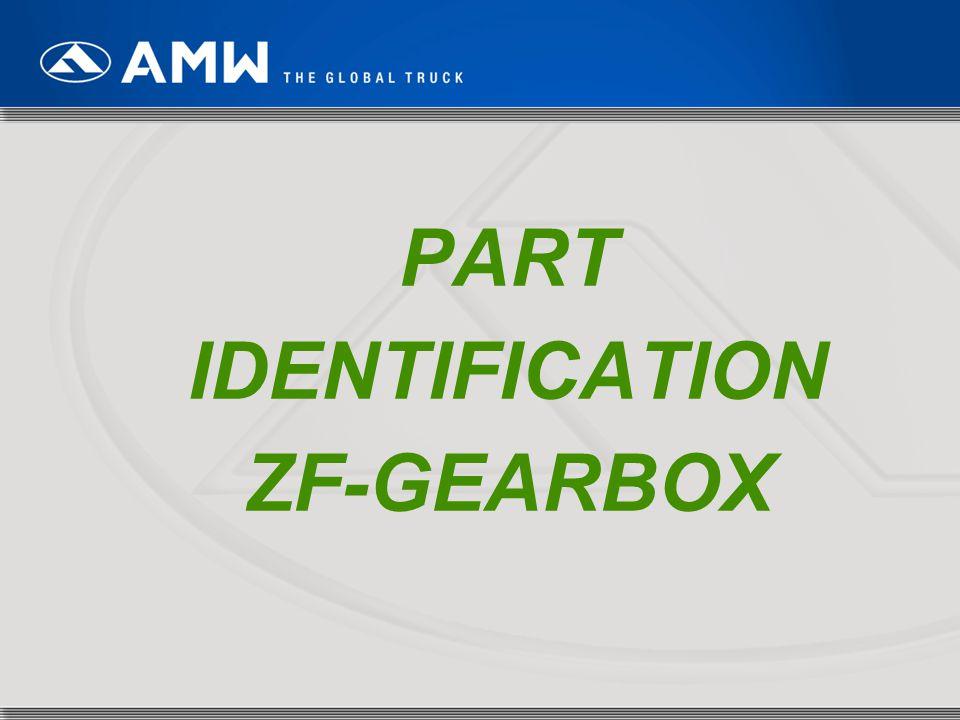 PART IDENTIFICATION ZF-GEARBOX