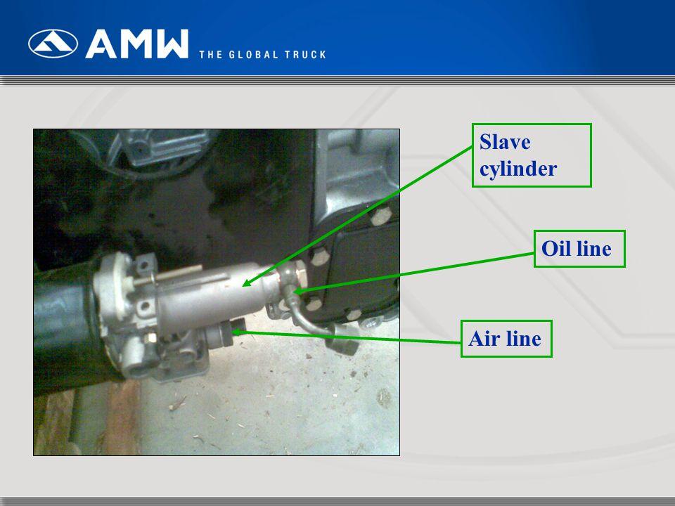 Slave cylinder Oil line Air line
