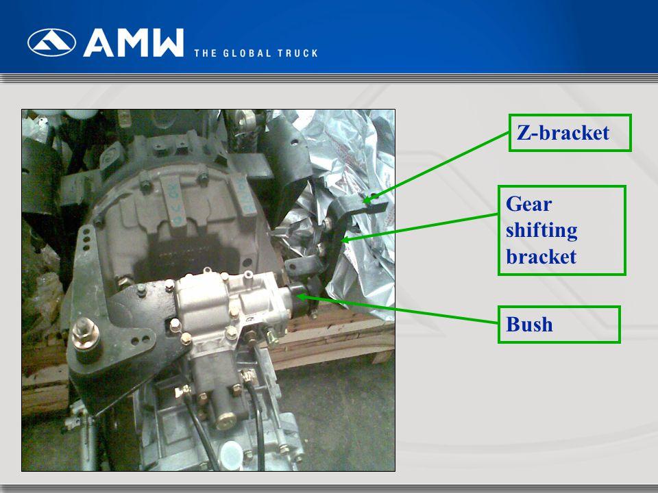 Z-bracket Gear shifting bracket Bush
