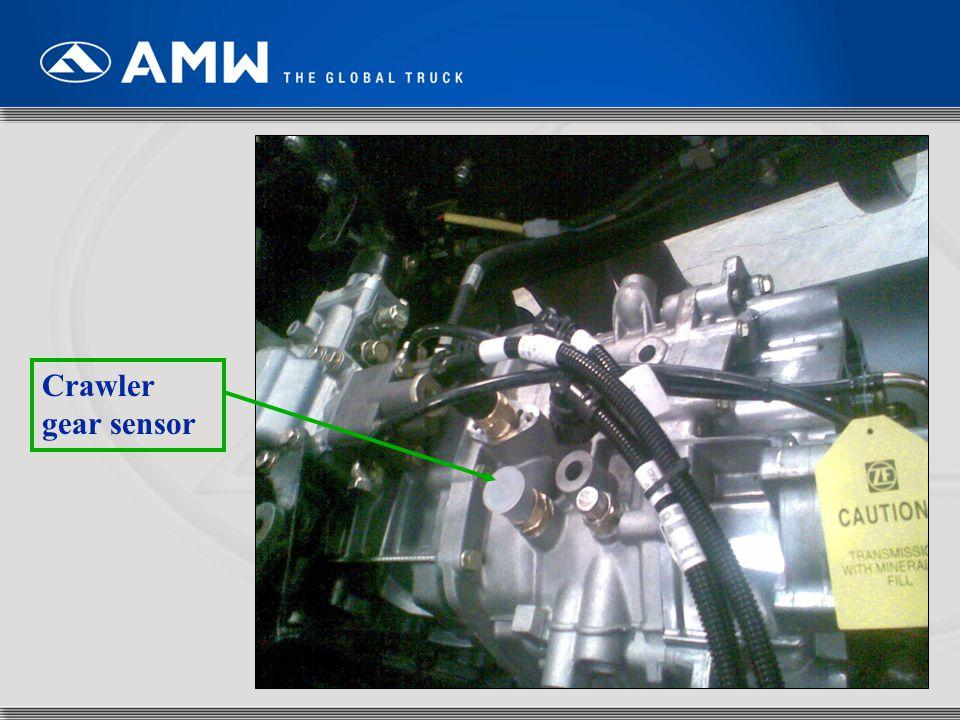 Crawler gear sensor