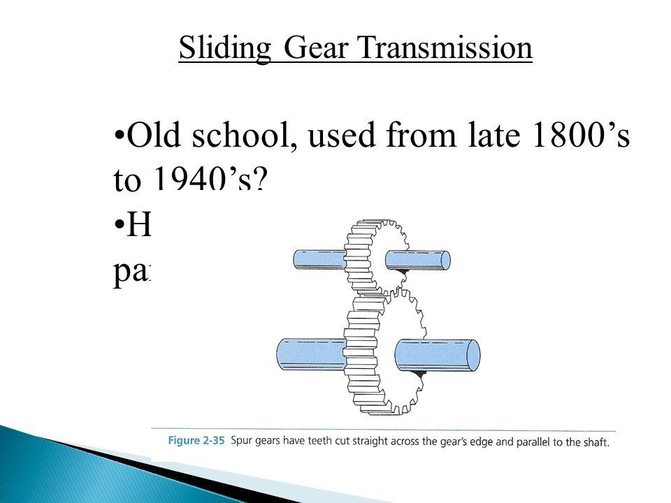 Sliding Gear Transmission