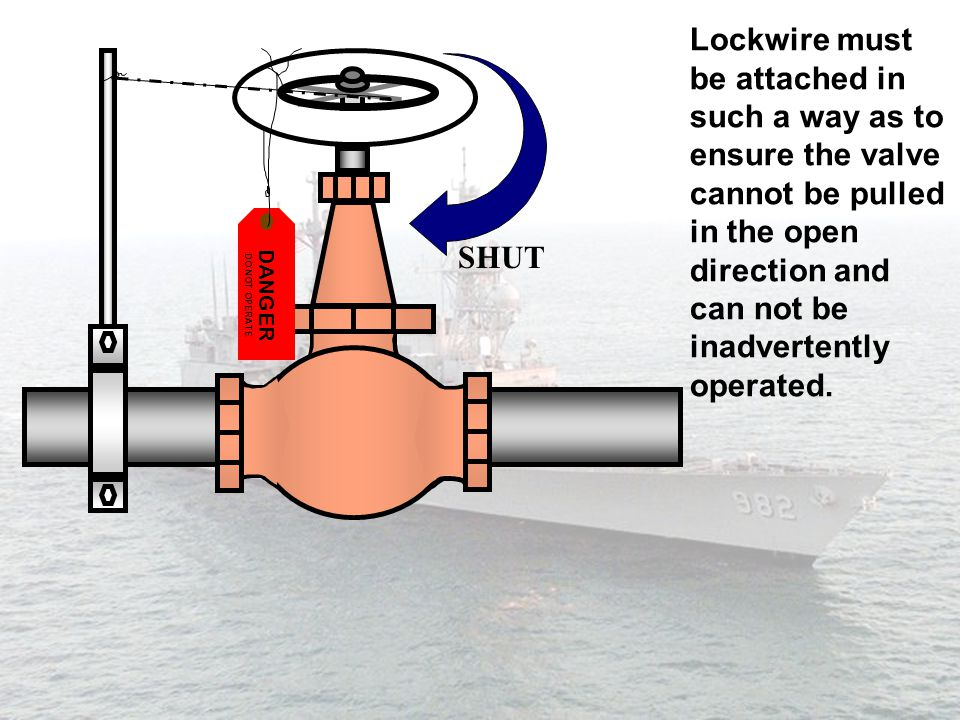 be attached in such a way as to ensure the valve