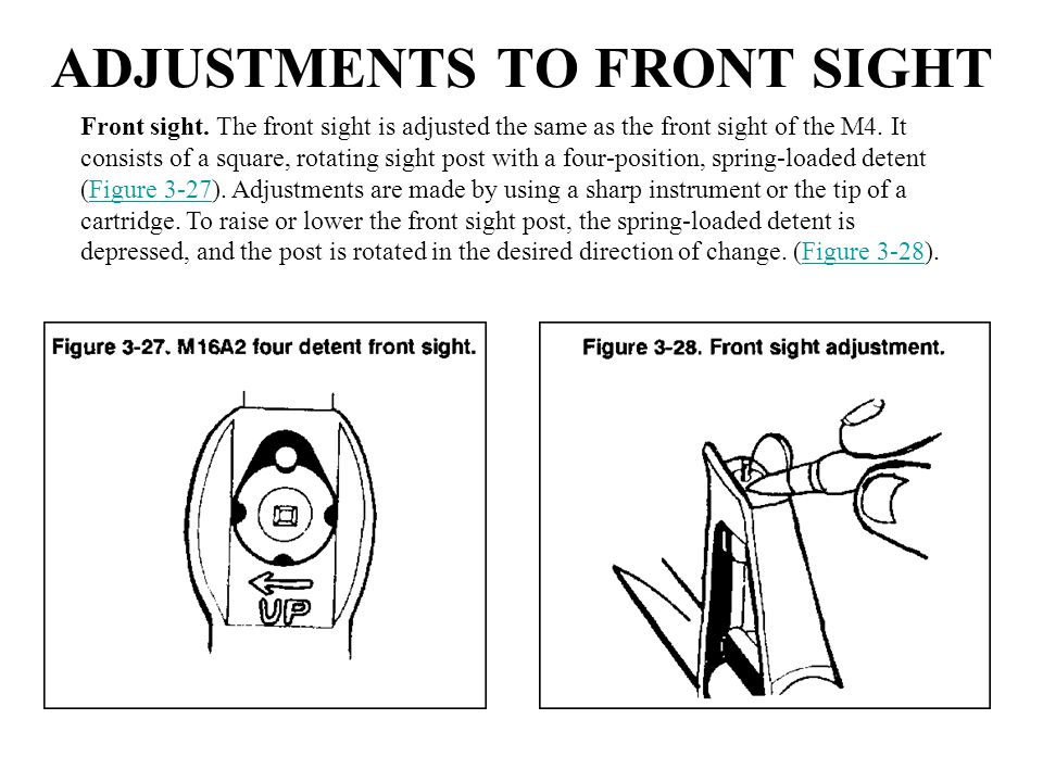 ADJUSTMENTS TO FRONT SIGHT