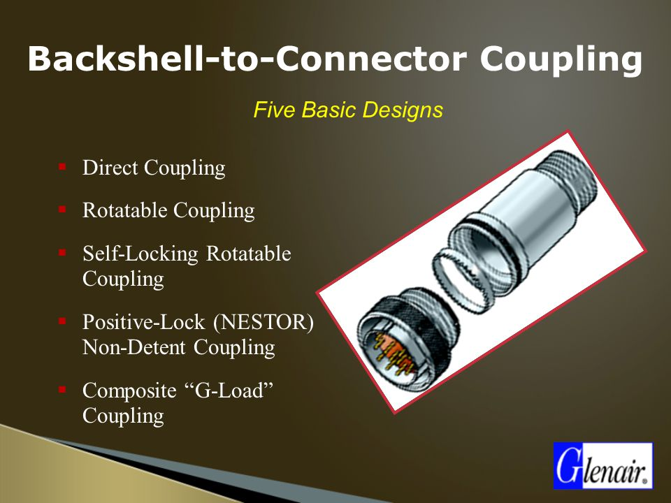 Backshell-to-Connector Coupling