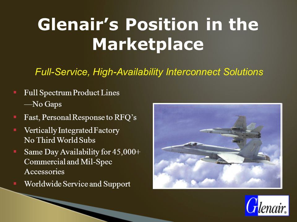 Glenair's Position in the Marketplace