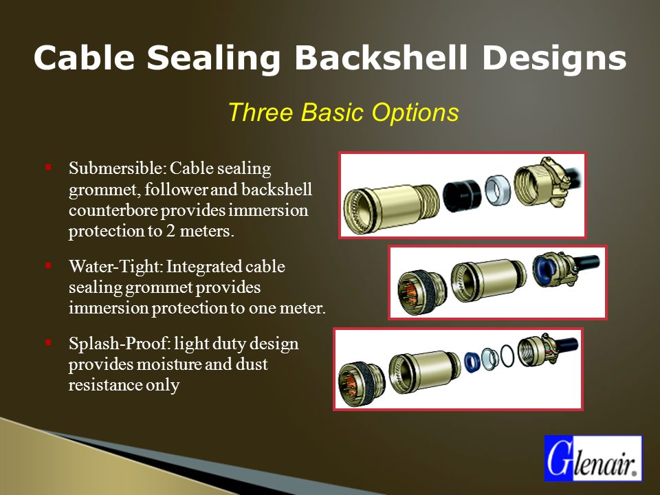 Cable Sealing Backshell Designs