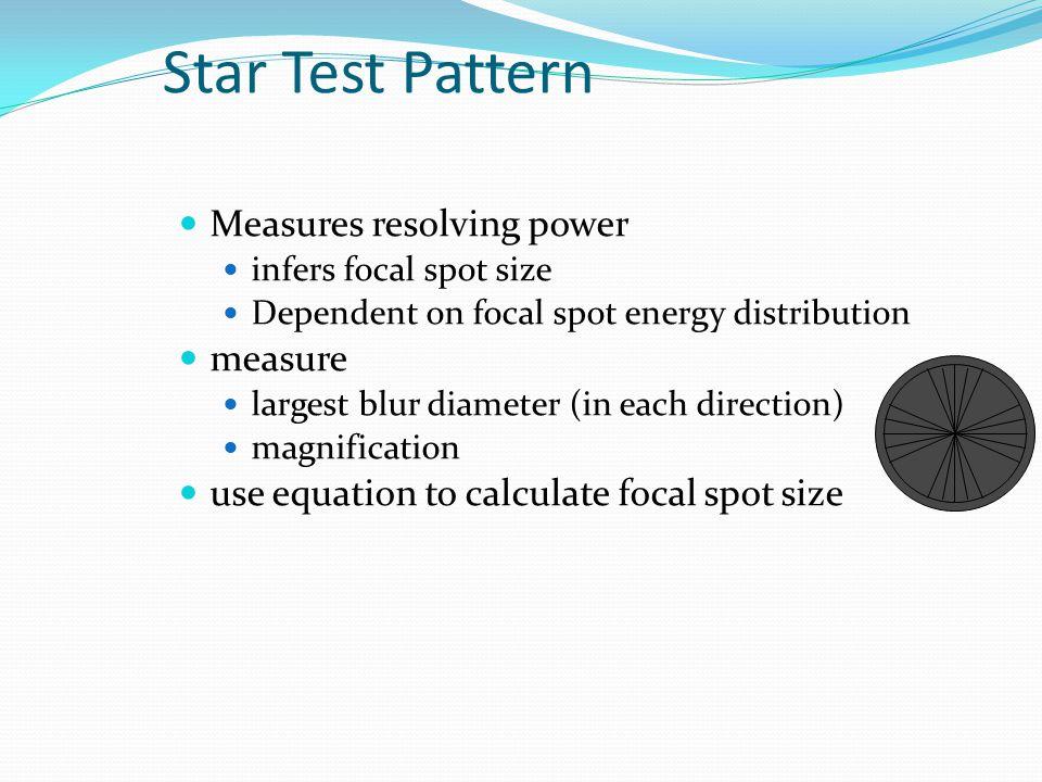 Star Test Pattern Measures resolving power measure