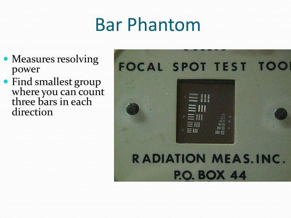 Bar Phantom Measures resolving power
