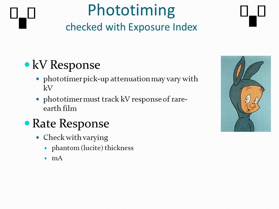 Phototiming checked with Exposure Index