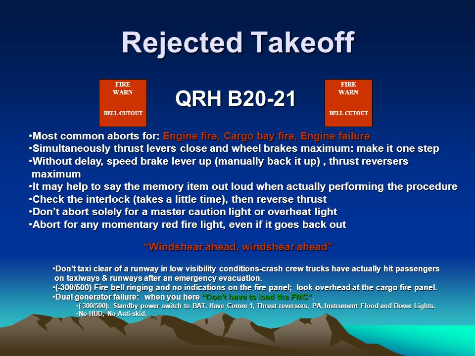 Rejected Takeoff QRH B20-21