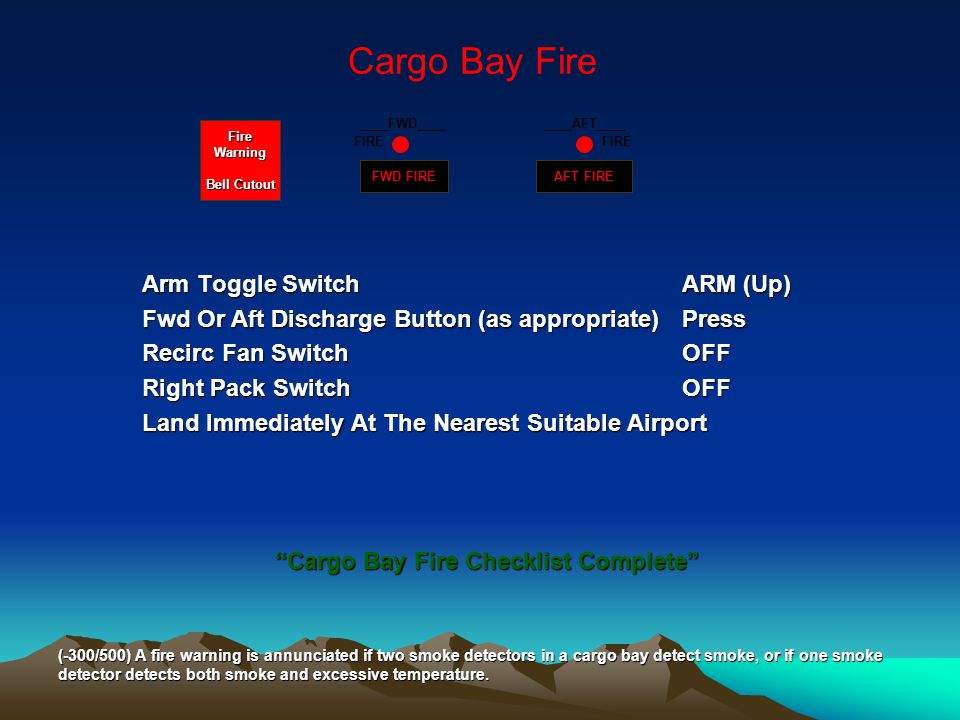 Cargo Bay Fire Arm Toggle Switch ARM (Up)