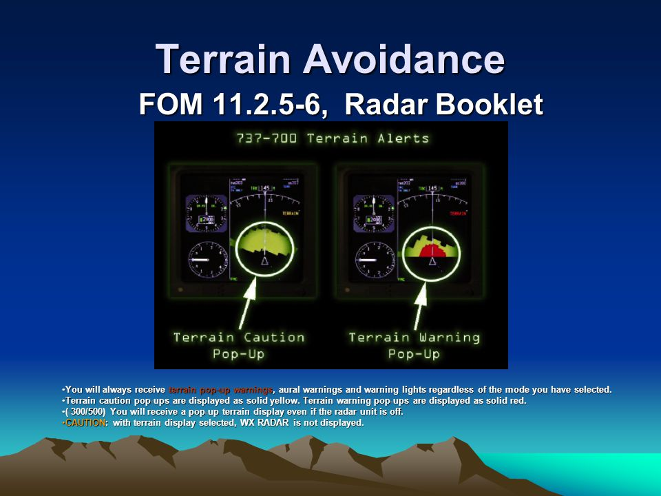 Terrain Avoidance FOM 11.2.5-6, Radar Booklet