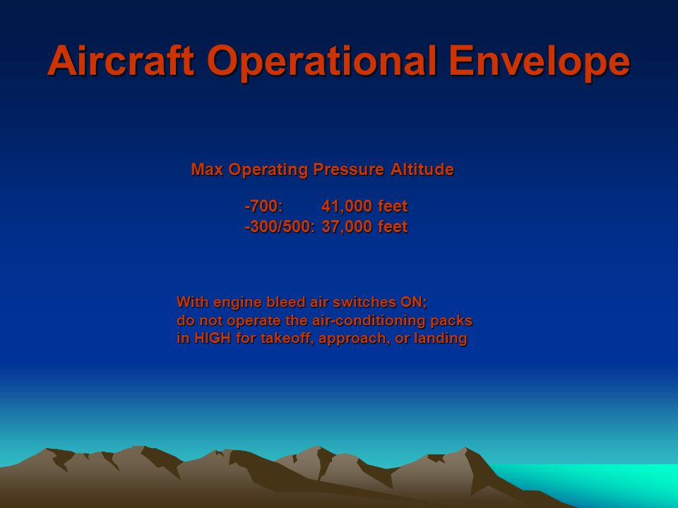 Aircraft Operational Envelope