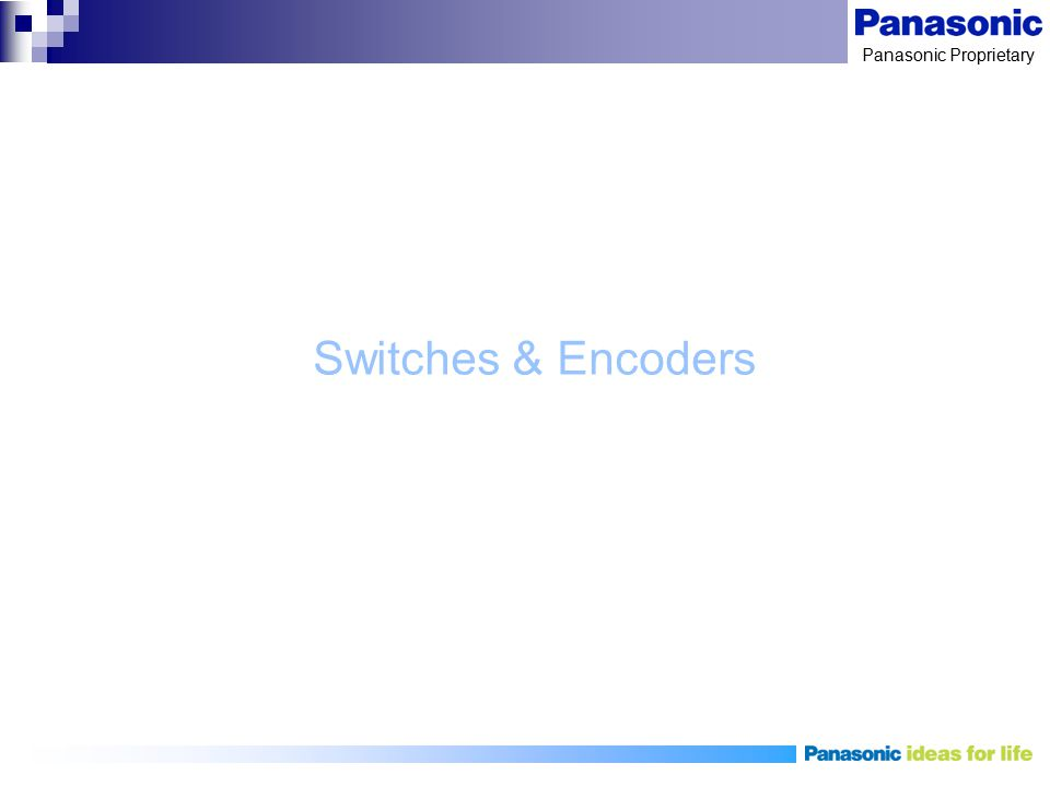 Switches & Encoders