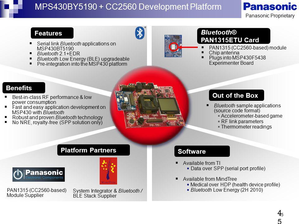 MPS430BY5190 + CC2560 Development Platform