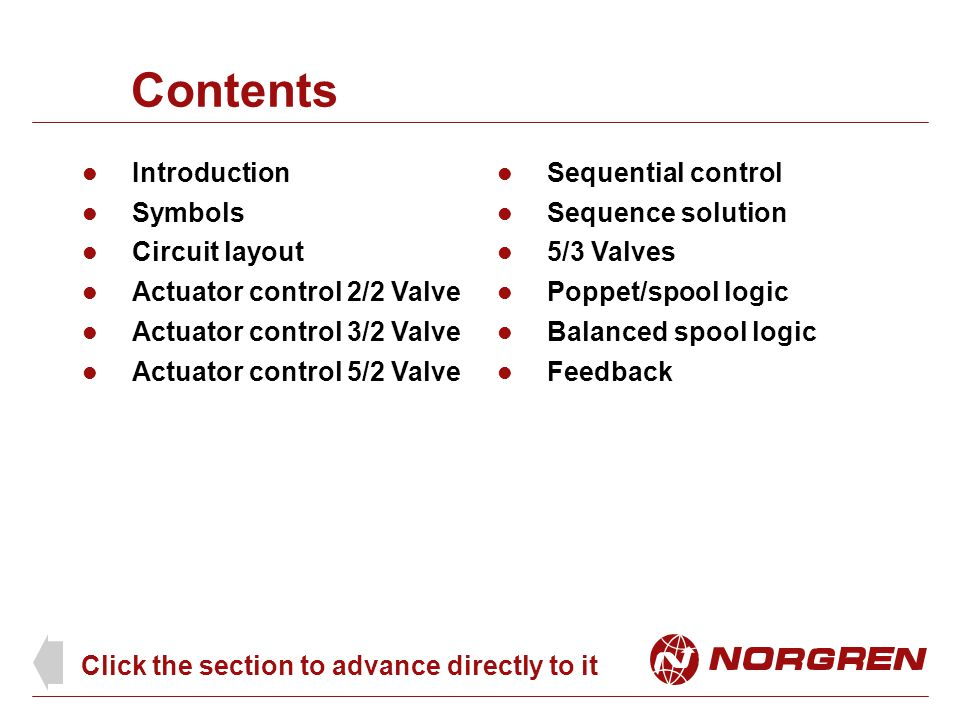 Contents Introduction Sequential control Symbols Sequence solution