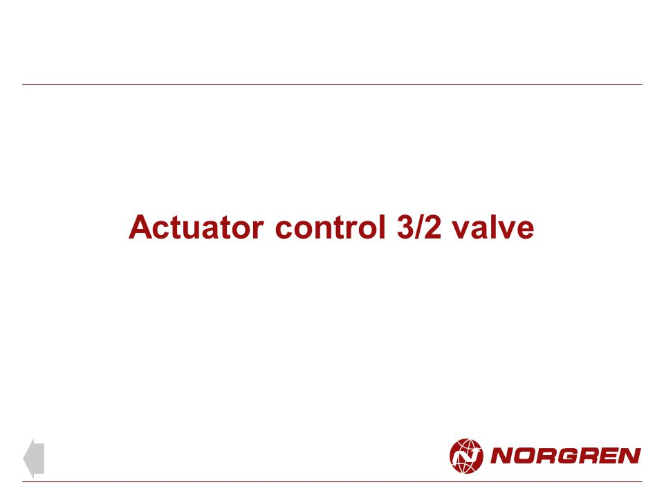 Actuator control 3/2 valve