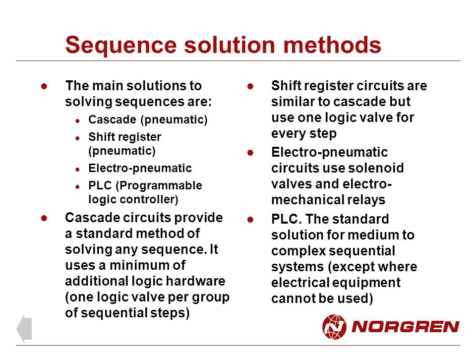 Sequence solution methods
