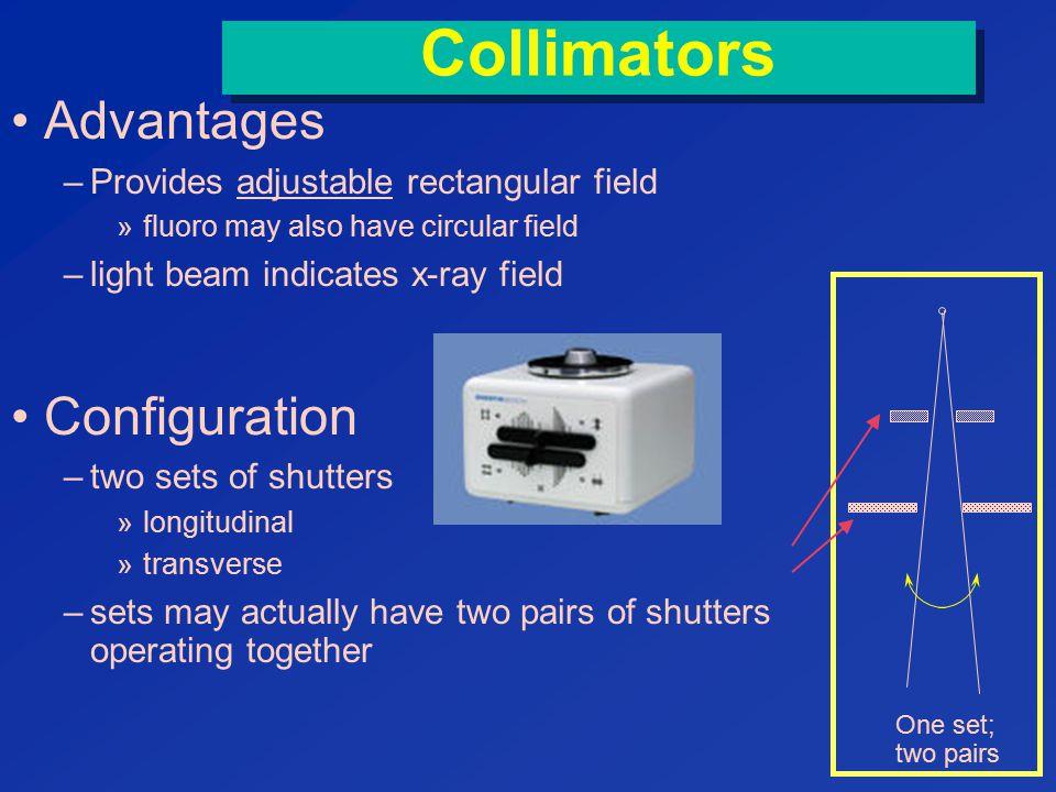 Collimators Advantages Configuration