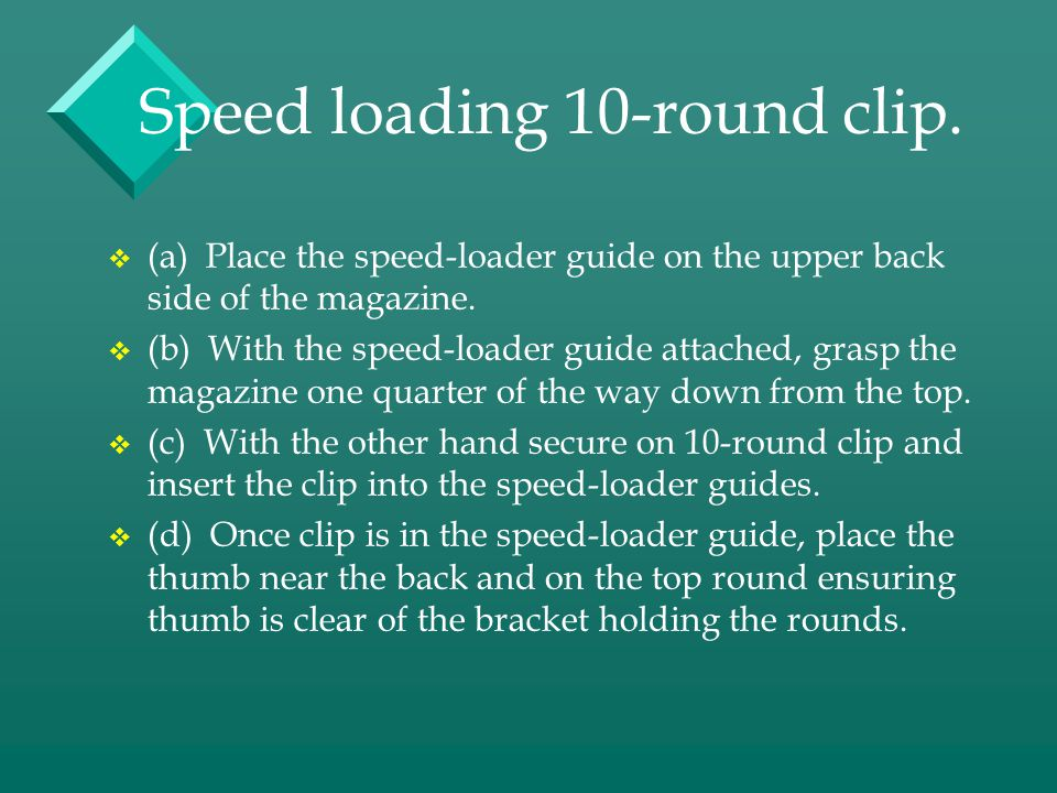 Speed loading 10-round clip.