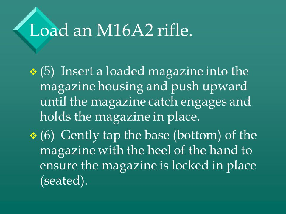 Load an M16A2 rifle.