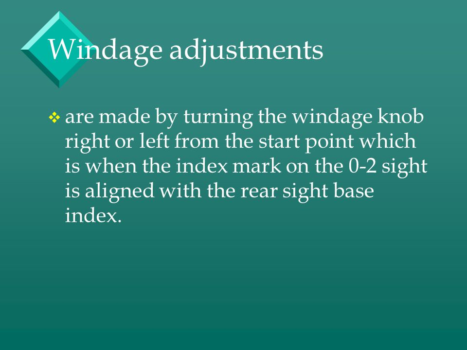 Windage adjustments