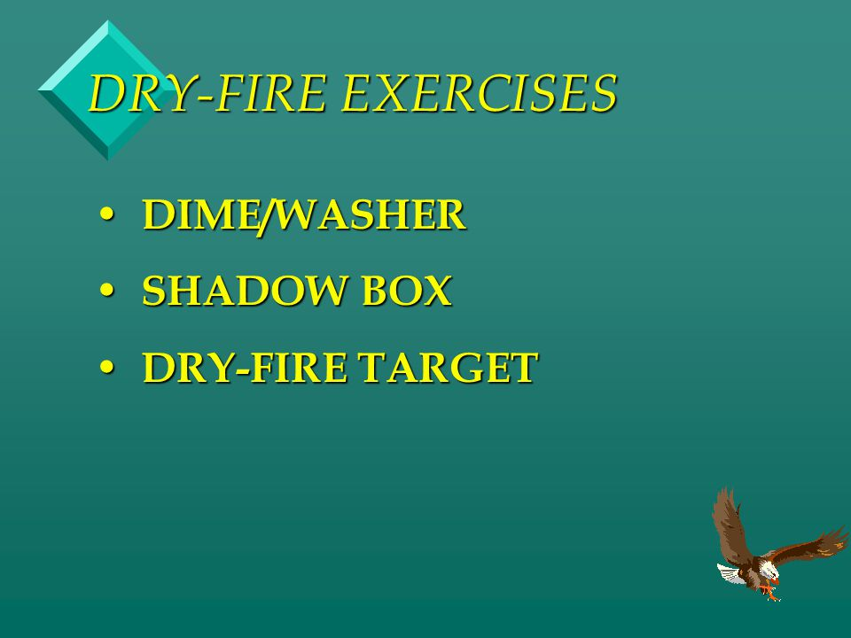 DRY-FIRE EXERCISES DIME/WASHER SHADOW BOX DRY-FIRE TARGET