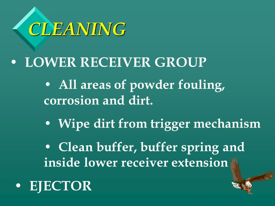 CLEANING LOWER RECEIVER GROUP EJECTOR