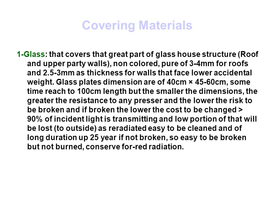 Covering Materials