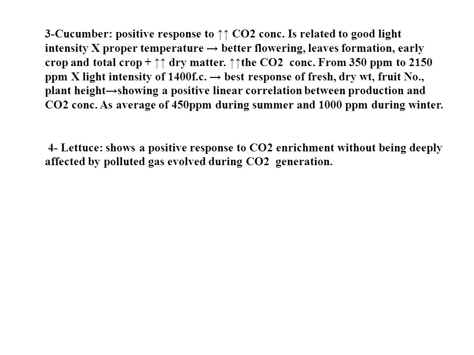 3-Cucumber: positive response to ↑↑ CO2 conc