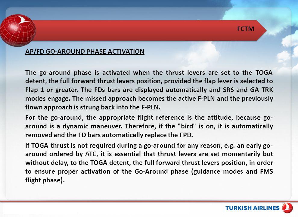 AP/FD GO-AROUND PHASE ACTIVATION