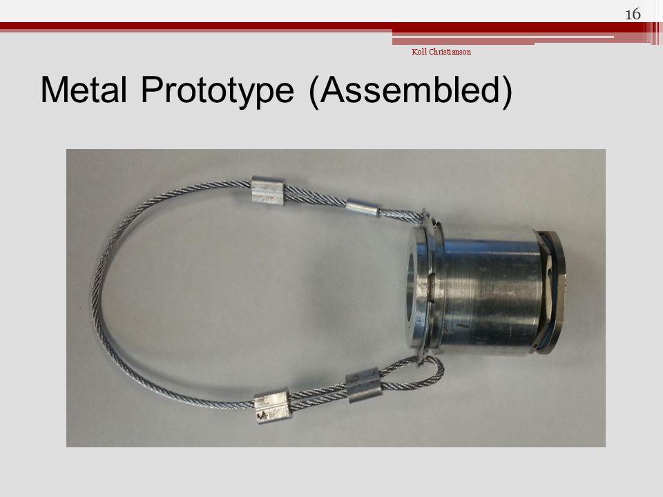 Metal Prototype (Assembled)