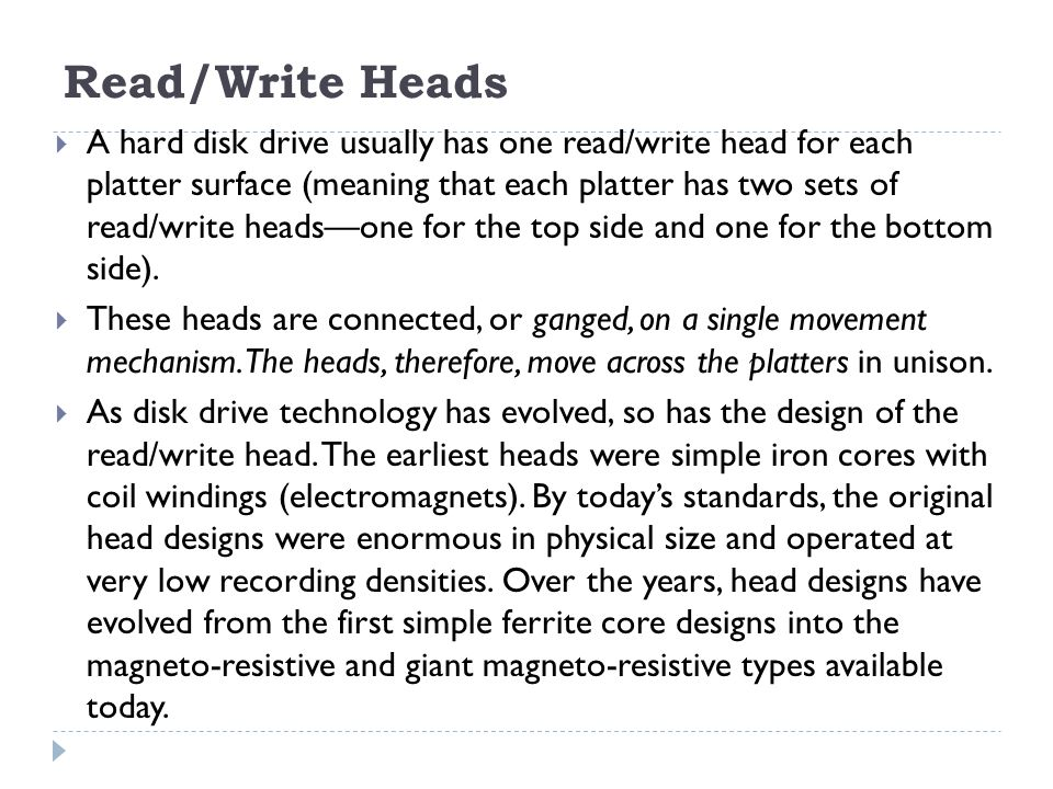 Read/Write Heads